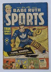 Babe Ruth Sports #7 (May 1950, Harvey) Good 2.0