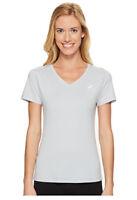 Asics Women's ASX Dry Short Sleeve Shirt Mid Grey Size XS