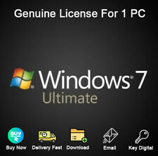 Windows 7 Ultimate 32/64bit Activation Genuine License For 1 PC