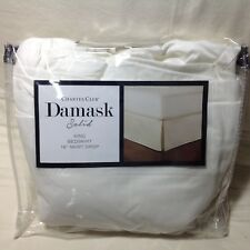 Charter Club - Damask Solid Supima Cotton King Size Bedskirt White