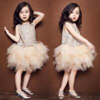 Princess Baby Girl Lace Dress Sweet Toddler Kid Sundress Tulle Tutu Party Skirt