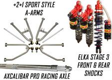 Lonestar +2 A-Arms Axle Elka 3 Legacy Front Rear Shocks Suspension Kit TRX 450R