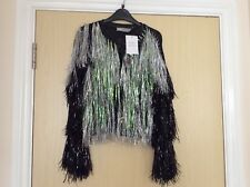 Brand New Black Metallic Cardigan by ASOS, With Black And Iridescent Strands XS