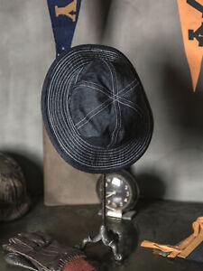 Bronosn 30s Daisy Mae Denim Buckle Hats CCC US Army Men's Workwear Cap