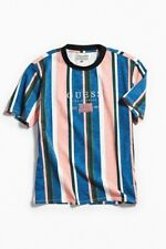 Guess Jeans ASAP USA 1981 Capsule Sayer Rose Pink Men's Vintage Striped Shirt