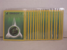 Lot of 20 Pokemon Base Set 2 Energy Cards **Grass Energy** Never Played / Mint