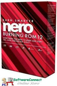 Nero Burning ROM 12 BURN DATA CDs DVDs BLU-RAYs RIP CONVERT MUSIC AUDIO VIDEO