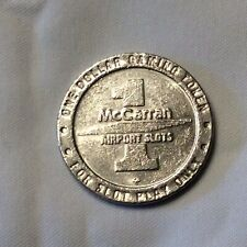 25 (1994)Year Old McCarran Airport $1 Gaming Token-authentic, Copper-nickel-used
