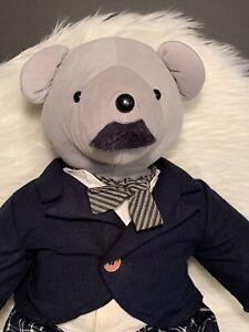 "Bearlie Chaplin Teddy Bear by North American Bears. 21"" Vintage Plush 1990"