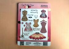Ladies Dresses Rubber Stamps