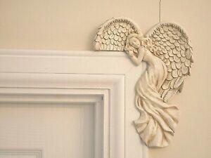 Angel Ornament Door Frame Wall Art Wings Ivory Figure Door Home Decor Gift