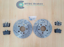 Skoda Fabia 1.9 TDi VRS 130bhp 03-07 Rear Brake Discs Drilled Grooved and Pads