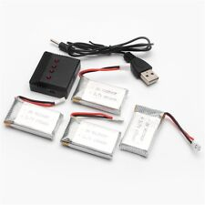 USB Charger + 4pcs 3.7V 650mAh Li-Po Battery for Syma X5SW X5SC Drone RC176