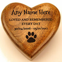 Ashes Box Pet Urn Dog Urn Wooden Heart Shaped Ashes Casket Pet Urn Cremation Box