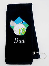 Personalized Embroidered Golf Towel * Golf Diamond *
