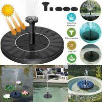 Solar Powered Floating Pump Water Fountain Birdbath Pond Garden Home Decor UK