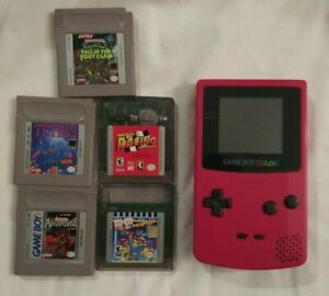Official Game Boy Color Pink Nintendo With 5 Games Used Tested And Works