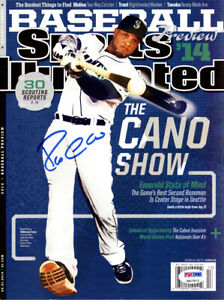 ROBINSON CANO AUTOGRAPHED SPORTS ILLUSTRATED MAGAZINE MARINERS PSA/DNA ITP 78174