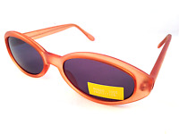 New Womens Ladies Light Brown Oval Retro Sunglasses Shades UV400 CE Approved S1