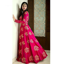 Indian Stylish Designer Bollywood Party Pink Anarkali Salwar Suit Kameez Dress