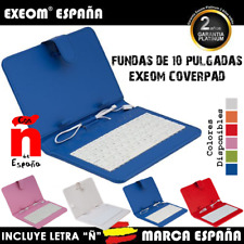 """Funda con Teclado en Español para Tablet 10"""" CoverPAD X100 Marca España Colores"""
