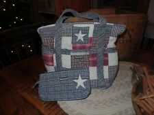 Bella Taylor Quilitd Purse~Americana~Country~Star~Matching Make up Bag~