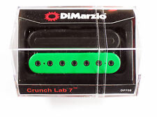 DiMarzio Crunch Lab 7 String Bridge Black/Green W/Black Poles & Rail DP 708