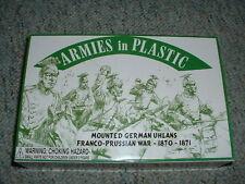 Armies in Plastic 1/32 54mm  Franco Prussian War Mounted German Uhlans 1870-71