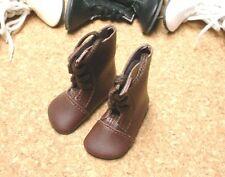 "DOLL Shoes, SLIM  58mm BROWN Boots fit 14"" Kish, Flat Foot Cissy"