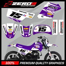 YAMAHA PW50 MOTOCROSS MX GRAPHICS DECAL KIT MUSCLE MILK WHITE / PURPLE