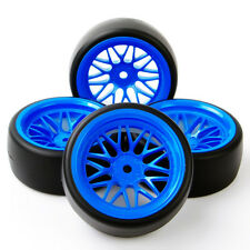 12mm hex RC 1:10Drift Tire WheelRims Set 4Pcs For HPI On Road Car PP0477+BBB