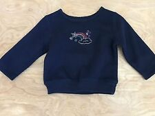 12m Baby Sonoma Rainbow and stars Fleece Pullover Sweater Shirt long sleeve