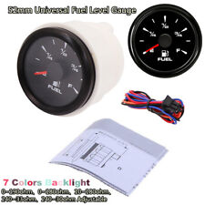 52mmUniversal Pointer Fuel Level Gauges E-F Fuel Level Meters 0-190ohm 240-33ohm