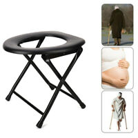 Portable Adult Toilet Seat Potty Chair Folding Seat Chair For Camping Home Use