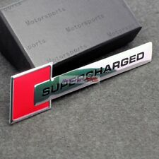 Red Turbo Charger SUPERCHARGED Engine Emblem Badge Sticker For AD A5 A7 S4 S6 Q7