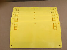 50 X YELLOW PLASTIC SIGNS - Blank Sign for Hanging Unprinted Strong Clear