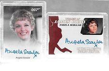 James Bond Heroes & Villians Autograph Cards Angela Scoular -WA36 & Full Bleed
