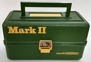 Vintage 1975 OldPal Woodstream Corp. Mark II - 2 Tray Tackle Box with contents