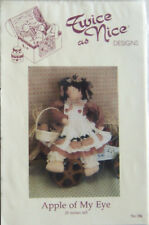"1993 Twice As Nice Designs ""Apple Of My Eye"" 20-Inch Doll Pattern #184 - New!"