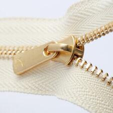 5Pcs Excella Slider Pulls YKK Gold Metal Zipper Slider Size #5
