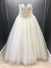 Maggie Sottero Champagne Lace & Tulle Strapless Sweetheart Wedding Gown Size 12