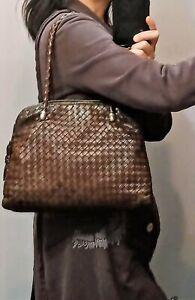 Bottega Veneta Intreciatto brown vintage handbag