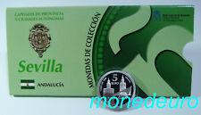 (284) ESPAÑA 2012 5 EUROS PLATA PROOF SEVILLA SERIE CAPITALES Y CIUDADES