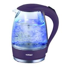 TODO 1.7L Glass Cordless Kettle 2200W Blue Led Light Kitchen Water Jug Purple