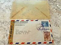 Vintage Postage Envelope 1943 - Air Mail to New York City - Rare Marks/Stamps