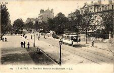 CPA LE HAVRE Place de la Bourse et Sous Préfecture (415957)