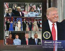 Tanzania 2017 MNH Donald Trump Melania Obama 3v M/S I US Presidents Stamps
