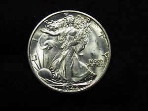 1942-S Walking Liberty Half Dollar LUSTEROUS BLAST WHITE