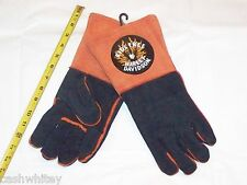 HARLEY DAVIDSON Motorcycles Leather Gauntlet Winter Work Grilling Welder Gloves