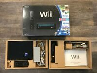 Nintendo Wii Console Black with Original Box - No Games Included - Works, Clean
